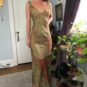 Jean Paul Gautier Web Optical Illusion Maxi Dress